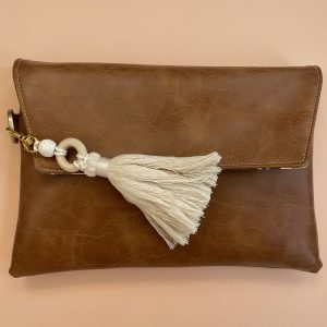 Essential Oil Wallet Brown Faux Leather Essential Oil Clutch Boho Essential Oil Clutch